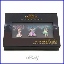Disney Designer Collection Princess Doll Pin Set 1 & 2 Limited Edition
