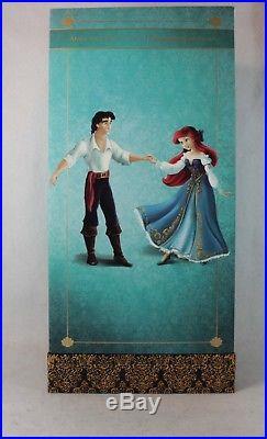 Disney Designer Doll Display Fairytale Little Mermaid Princess Ariel Prince Eric