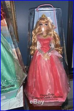 Disney Diamond Collection Limited Edition Princess Aurora & Ariel 17 Doll BOTH