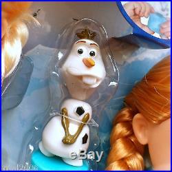 Disney FROZEN Deluxe TODDLER ELSA ANNA Dolls OLAF Princess Royal Reflection Eyes