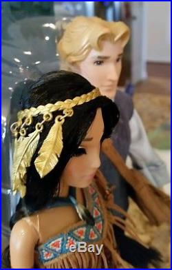 Disney Fairytale Designer Collection LE Pocahontas & John Smith Doll 11.5 in NEW