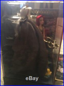 Disney Fairytale Little Mermaid Ariel Triton Doll Plus Litho 8x12 LE D23