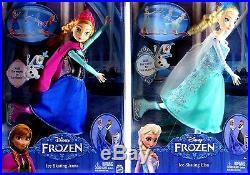 Disney Frozen 12 Ice Skating Elsa, Anna Figure Doll Barbie Lot Xmas BDay