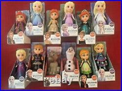 Disney Frozen 2 COMPLETE 12 Doll Set of 3 Mini Poseable Elsa Anna Olaf HTF