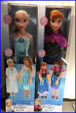 Disney Frozen Anna and Elsa 3 inches Life Size Doll Sets Bonus Olaf Toys