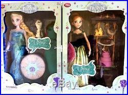 Disney Frozen SINGING Elsa Anna I SING TWIRL MY HAND Doll Set 11 Accessories