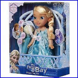 Disney Frozen Sing-A-Long Elsa Princess Doll Dress Sings Let It Go w Microphone