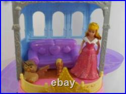 Disney Glitter Glider Castle MagiClip Princess Dolls Set + Rapunzels Castle +