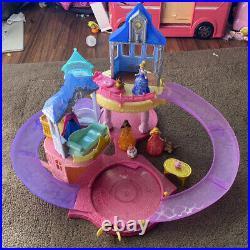 Disney Glitter Glider Castle MagiClip Princess Set Lot & Extra Castle Magic Clip