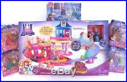 Disney Glitter Glider Castle princess Magic Clip Figure Doll Lot MagiClip Gift