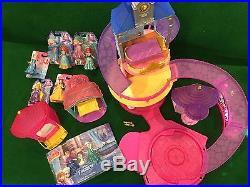 Disney Glitter Glider Princess Castle play set and Flip N' Switch castles +dolls