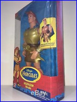 Disney Hercules Extremely Rare Doll Golden Glow Hercules Mattel