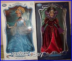 Disney Limited Edition Deluxe Cinderella & Lady Tremaine Dolls NIB