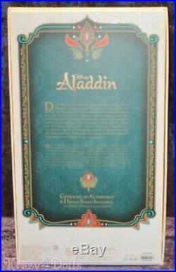 Disney Limited Edition Designer Aladdin Princess Jasmine Doll NEW
