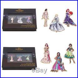 Disney Limited Pin Set Princess Designer Collection Dolls 6 Pins of 2 Sets Ariel