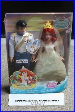Disney Little Mermaid Ariel & Eric Dolls Wedding RARE! TOYS R US Exclusive
