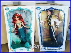 Disney Little Mermaid Princess Ariel prince Eric Limited Edition 17 LE Doll