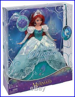 Disney Little Mermaid Princess Holiday Princess Ariel Doll Brand New