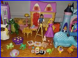 Disney MagiClip Polly Pocket Little Kingdom Princess Prince Doll Palace Pet Lot