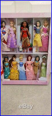 Disney Official Princess Classic Doll Gift Collector Set (11 Dolls)