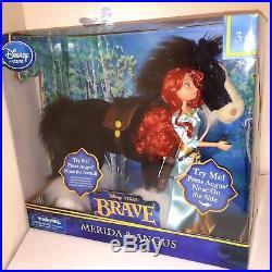 Disney Pixar BRAVE Princess MERIDA and ANGUS Deluxe Doll Toy Set
