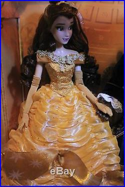 Disney Platinum Beauty And The Beast Limited Edition Dolls Belle And Beast