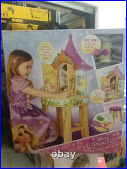 Disney Playdate Rapunzel Enchanted Real Vanity Mirror Lights Sounds Stool
