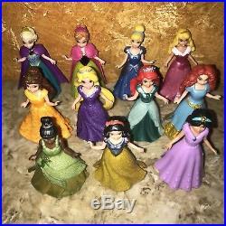 Disney Pollypocket Princesses Magic Clip Magicclip Dolls Lot