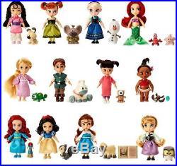 Disney Princess Animators' Collection Princess Dolls Set Of 12 Figures Kids Toy