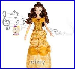 Disney Princess Belle Deluxe Interactive Doll with Singing Mrs. Potts Figure