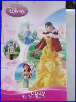 Disney Princess Belle & Jasmine Simba Dolls