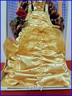 Disney Princess Belle LIMITED EDITION DOLL 17 1 of 5000 Beauty Beast NIB