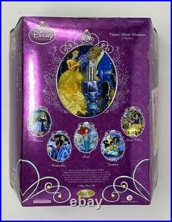 Disney Princess Belle Porcelain Doll Brass Key Classic Movie Memorie Collectible