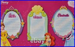 Disney Princess Brass Key Keepsakes Porcelain Dolls Set of 3 New in Box Ariel
