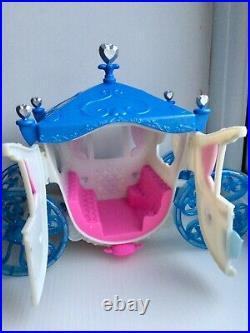 Disney Princess Cinderella Magiclip Doll House Castle Palace + Wedding Carriage