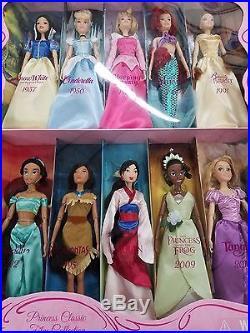 Disney Princess Classic Film Collection 10 Doll Set
