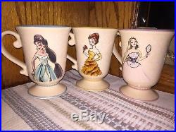 Disney Princess Designer Doll Mug Set. Full Set! Includes Ariel, Hard to Find
