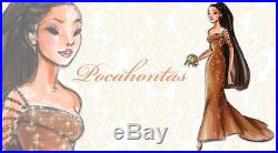 Disney Princess Designer Dolls Limited Edition Pocahontas Brand New #4/4000 Rare