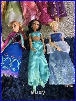 Disney Princess Doll Bundle X 11 Pocahontas Jasmine Tiana Rapunzel Belle Anna