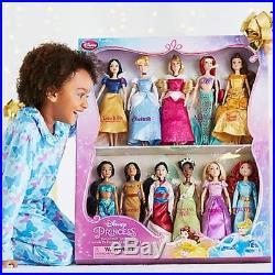 Disney Princess Doll Collection Snow White Cinderella Aurora Ariel Mulan Jasmine