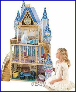 Disney Princess Doll House Cinderella Dolls House 5 rooms 11pc furniture