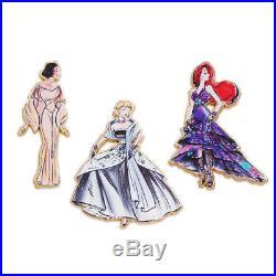 Disney Princess Doll Pin Set Designer Collection Set 1 & 2 LE Limited Edition