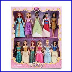 Disney Princess Doll Toy Set Of 11 Snow White Cinderella Ariel Belle Jasmine