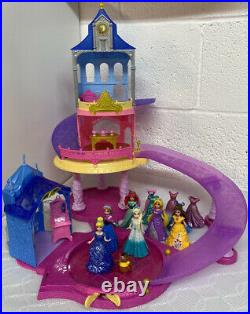 Disney Princess Glitter Glider Castle & Magiclip Magic Clip Dolls Bundle Frozen