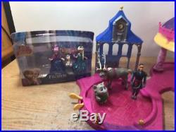 Disney Princess Glitter Glider Castle Playset MagiClip Lot 3 Dolls EUC