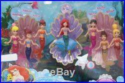 Disney Princess Little Mermaid Mini Doll Set by Mattel Ariel & Her Sisters