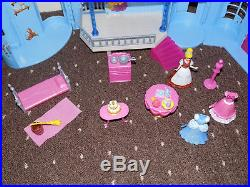Disney Princess Magiclip Cinderella Castle + Accessories + Doll + Outfits