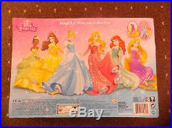 Disney Princess Magiclip Dolls Collection Aurora Tiana Cinderella Belle Ariel