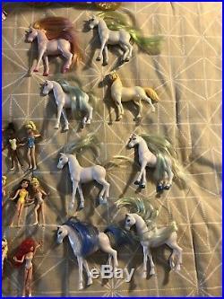 Disney Princess Magiclip Lot 100+ Pieces Doll/Dress/Carriage