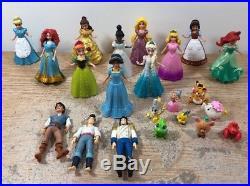 Disney Princess Magiclip Polly Pocket Dolls Lot of 11 & 3 Princes 8 Pets